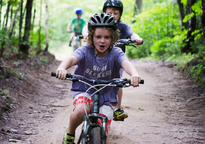Mountain Biking at Summer Camp, Ontario